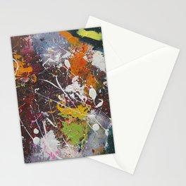 Grunge Splatter Abstract Acrylic Art Stationery Cards
