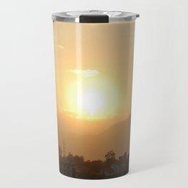 Sun Set Across Nagarjuna Travel Mug