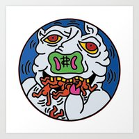 keith haring Art Prints featuring Keith Haring Pig 1988  by cvrcak