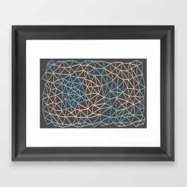 Non-linear Points Framed Art Print