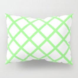 Criss-Cross (Light Green & White Pattern) Pillow Sham