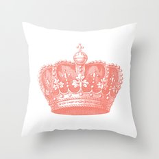 coral crown Throw Pillow