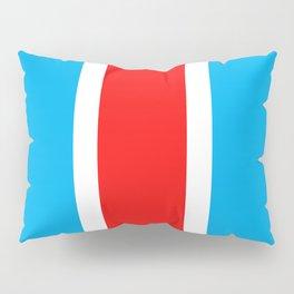 TEAM COLORS 10...RED , WHITE LIGHT BLUE Pillow Sham