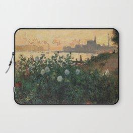 Flowered Riverbank, Argenteuil, Claude Monet Laptop Sleeve
