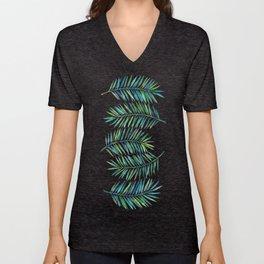 Palm Leaves Unisex V-Neck