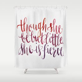 Shakespeare Quote - Handletter Watercolor Typography  Shower Curtain