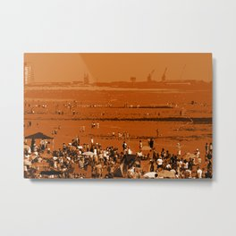 Crowded Summer beach Metal Print