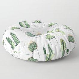 watercolour cacti and succulent Floor Pillow