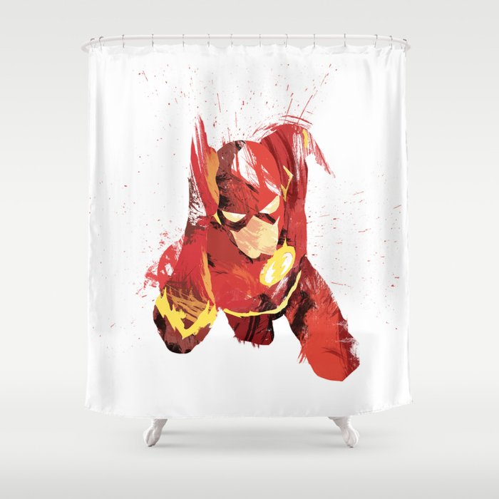 The Flash Shower Curtain By Almighty1080