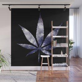 Weed : High Times dark blue Galaxy Wall Mural