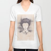 cosmos V-neck T-shirts featuring cosmos by Shiro