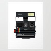 polaroid Art Prints featuring Polaroid by Chris Redford