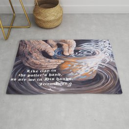 In the Potter's Hands with Scripture Rug