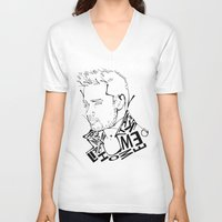 liam payne V-neck T-shirts featuring Typographic Liam by Ashley R. Guillory