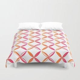 Urban Nesian Pink and Orange Siapo Duvet Cover