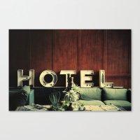 neutral milk hotel Canvas Prints featuring Hotel by Around & Around
