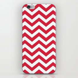 Red Chevron Pattern. Colorful zig zag stripe desig iPhone Skin