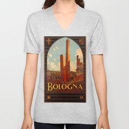 Bologna Travel Poster Unisex V-Neck