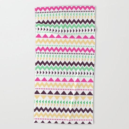 Tribal Pattern 02 Beach Towel