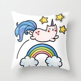 Cat Unicorn Throw Pillow