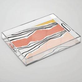 Modern irregular Stripes 01 Acrylic Tray