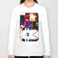 shopping Long Sleeve T-shirts featuring Window Shopping by Khana's Web