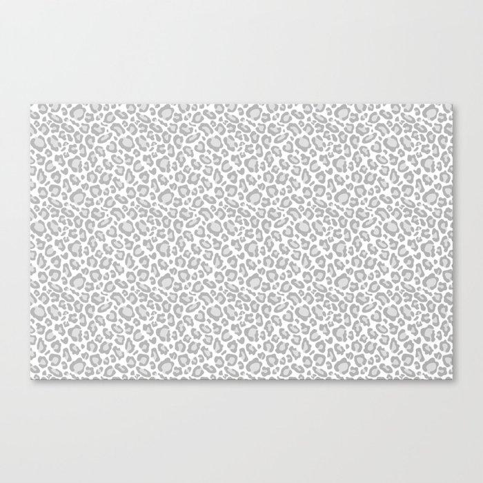 Grey Leopard Print Leinwanddruck