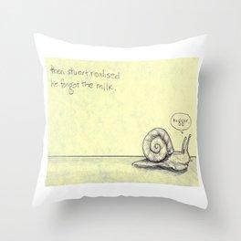 Snail Milk Throw Pillow
