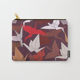 Japanese Origami paper cranes symbol of happiness, luck and longevity, sketch Carry-All Pouch