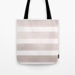 Rose Gold and Wide Pink Stripes Mix Pattern Tote Bag