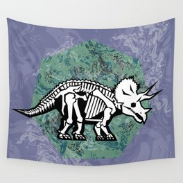 Triceratops Fossil Wall Tapestry