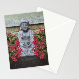 Little Buddha Sculpture Collage Stationery Cards