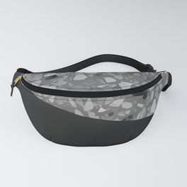 Terrazzo Texture Grey Black #7 Fanny Pack