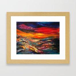 Golan Heights at Sunrise Framed Art Print