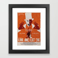 LIVE AND LET DIE POSTER Framed Art Print