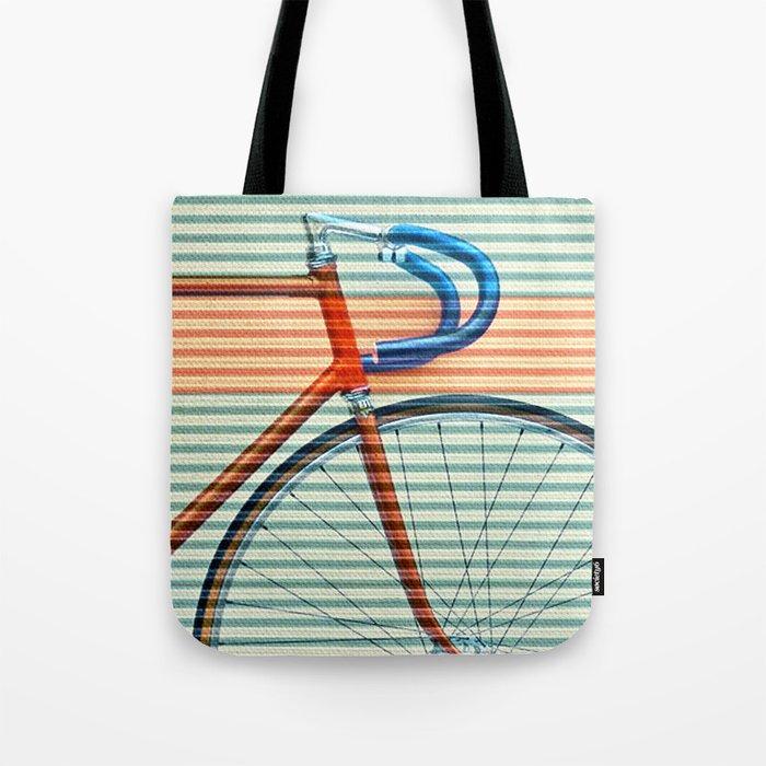 Standard Striped Bike Tote Bag