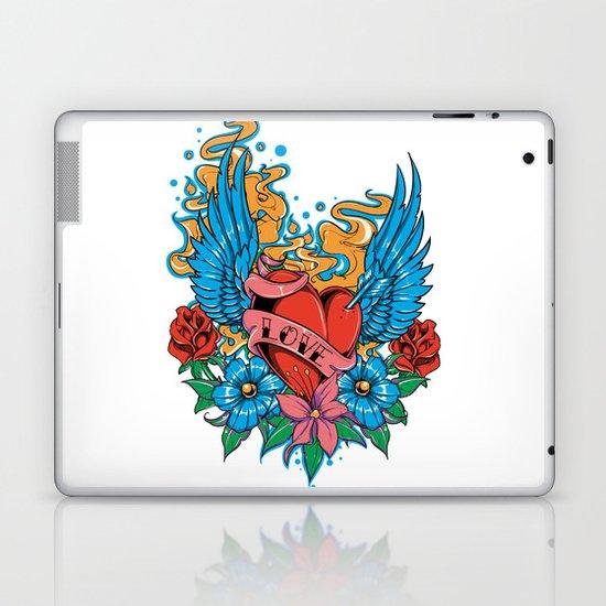 Tattoo flowers Laptop & iPad Skin