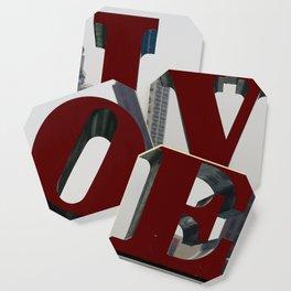 Love Philadelphia Sculpture Coaster