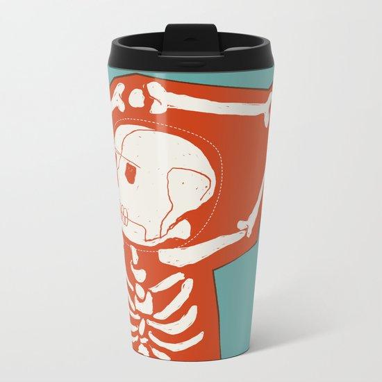 Overlay Skeleton Metal Travel Mug