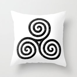 Triskele Throw Pillow