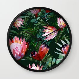 king protea flower Wall Clock