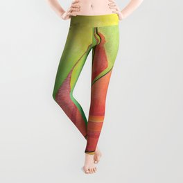 Cubist Abstract Sailing Boat Leggings