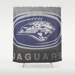Mill Valley High School Jaguars Football Shower Curtain