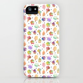 Best time for icecream is always illustration iPhone Case