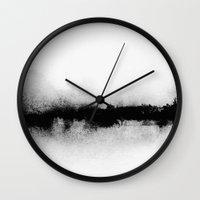 georgiana paraschiv Wall Clocks featuring L1 by Georgiana Paraschiv