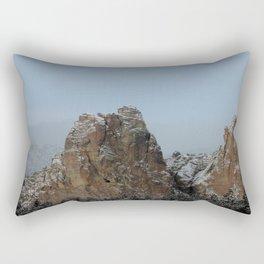 Smith Rock Snowbound Rectangular Pillow