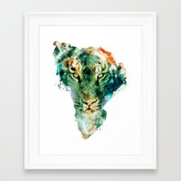 african Framed Art Prints featuring African Wildlife by RIZA PEKER