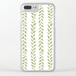 Matcha Greens Clear iPhone Case