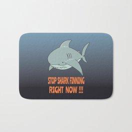Stop shark finning Bath Mat