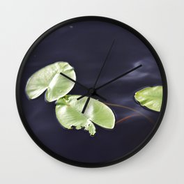 Waterlily pads Wall Clock